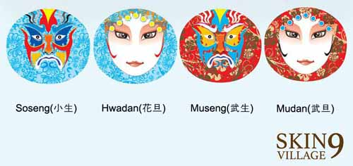 Skin9 Peking Opera Mask 01